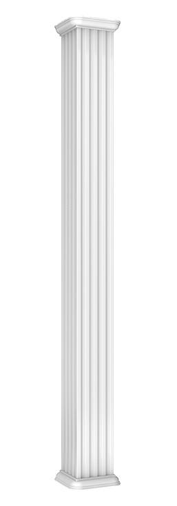 colonne carrée canelé